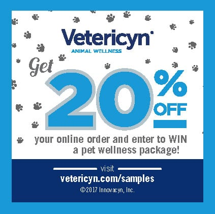 , Samples Giveaway Confirmation, Vetericyn Animal Wellness